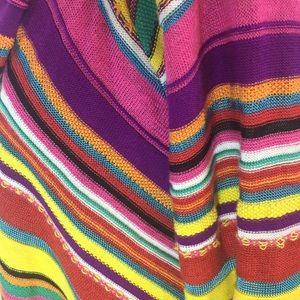 Lauren Ralph Lauren Sweaters - High low bright stripe Ralph Lauren cardigan